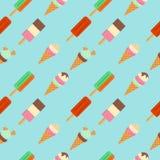 Картина значка мороженого плоского также вектор иллюстрации притяжки corel Стоковые Изображения