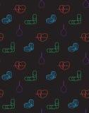 Картина значков медицины безшовная Стоковое Изображение
