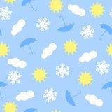 Картина значков погоды Стоковые Изображения