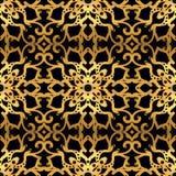 Картина золота безшовная на черной предпосылке иллюстрация вектора