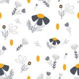 Картина золота и серых кругов цветка безшовная иллюстрация штока