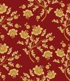 картина золота цветка безшовная Стоковая Фотография RF