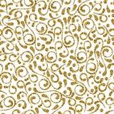 Картина золота эффектной демонстрации вектора безшовная декоративная Элегантный дизайн орнамента для печати и предпосылок ткани м Стоковые Изображения RF