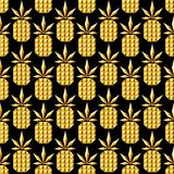 Картина золотого ананаса ювелирных изделий безшовная бесплатная иллюстрация