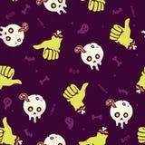 Картина зомби хеллоуина безшовная Стоковое Изображение