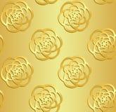 Картина золота безшовная Стоковые Изображения
