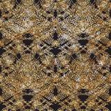Картина золота штрихового пунктира Doodle светить Стоковая Фотография RF