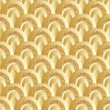 Картина золотого стиля круга яркого блеска половинного безшовная Стоковые Фотографии RF