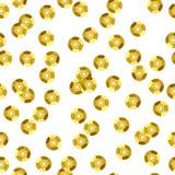 Картина золотых sequins безшовная Стоковые Изображения