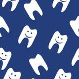Картина зуба безшовная для веб-дизайна вектор Стоковые Изображения