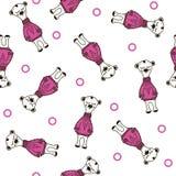 Картина игрушечного медведя приполюсная безшовная вектор doodle иллюстрация штока