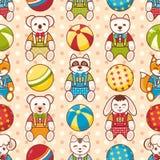 Картина игрушки ребенка безшовная Конструируйте элемент для открытки, знамени, рогульки Стоковые Изображения RF
