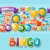 Картина игры Bingo или лотереи безшовная с шариками Стоковое Изображение RF