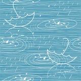 картина идя дождь вектор зонтиков Стоковая Фотография
