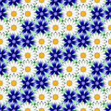 Картина дизайна безшовная красочная флористическая декоративная Стоковая Фотография
