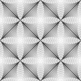 Картина дизайна безшовная monochrome геометрическая Стоковые Изображения RF