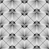 Картина дизайна безшовная monochrome геометрическая Стоковые Изображения