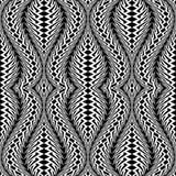 Картина дизайна безшовная monochrome развевая бесплатная иллюстрация
