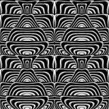 Картина дизайна безшовная monochrome развевая Стоковое Фото