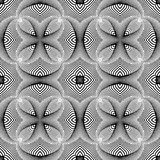 Картина дизайна безшовная monochrome striped Стоковое фото RF