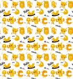 Картина извергов милого doodle оранжевая безшовная бесплатная иллюстрация