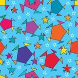 Картина изменения пункта звезды безшовная Стоковая Фотография