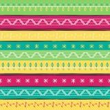 Картина иллюстрации вектора этническая безшовная Яркая красочная печать Стоковые Фотографии RF