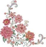 картина иллюстрации цветка в простой предпосылке Стоковые Фото