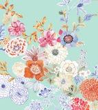 картина иллюстрации цветка в простой предпосылке стоковое изображение