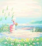 картина иллюстрации цветка в простой предпосылке стоковые изображения