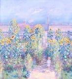картина иллюстрации цветка в простой предпосылке стоковая фотография