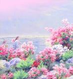 картина иллюстрации цветка в простой предпосылке стоковое изображение rf