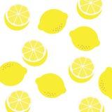 картина лимона безшовная Стоковые Изображения