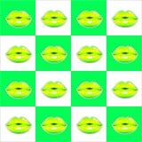 Картина лимона губ безшовная вектор предпосылка яркая бесплатная иллюстрация