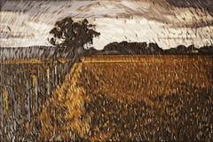 Картина импрессионизма: Сельская местность Стоковое Изображение