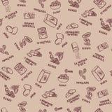 Картина ингридиентов печенья на бежевой предпосылке с абрикосами и миндалинами бесплатная иллюстрация