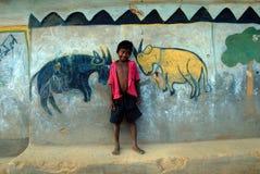 картина Индии соплеменная Стоковые Фотографии RF