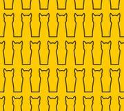 Картина линейного кота силуэта безшовная Предпосылка любимчика Blac бесплатная иллюстрация