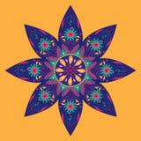 Картина индейца цветка Стоковое Фото
