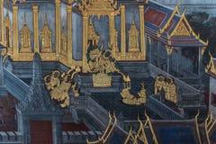 Картина искусства на стене о рассказе ramayana Стоковое фото RF