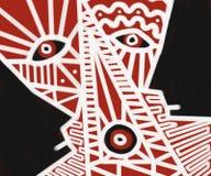 Картина искусства стороны абстрактная племенная Стоковое Изображение
