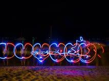 Картина источника света СИД в береге моря Стоковое Изображение RF