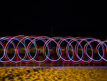 Картина источника света СИД в береге моря Стоковая Фотография RF
