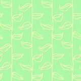 Картина листьев безшовная в винтажном стиле Стоковое Изображение