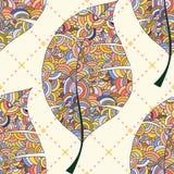 картина листьев безшовная Стоковые Изображения RF