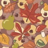 Картина листьев осени безшовная Стоковые Изображения RF
