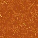 картина листьев осени безшовная Стоковое Изображение RF