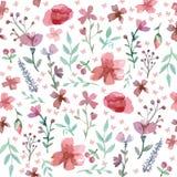 картина листьев цветков безшовная Стоковое фото RF