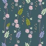 картина листьев цветков безшовная Стоковая Фотография
