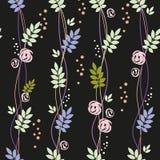 картина листьев цветков безшовная Стоковые Изображения RF